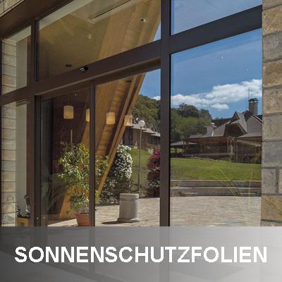 Sonnenschutzfolie an Tür und Fenster