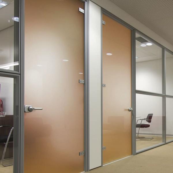 Sichtschutzfolie Bronze an Tür