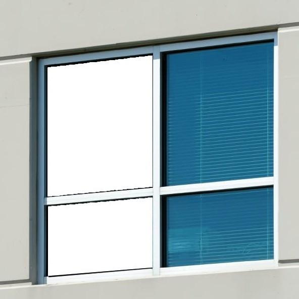 Fenster Verdunkelungsfolie Selbstklebend - Weiß