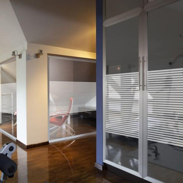 Dekor Fensterfolie Linien Weiß
