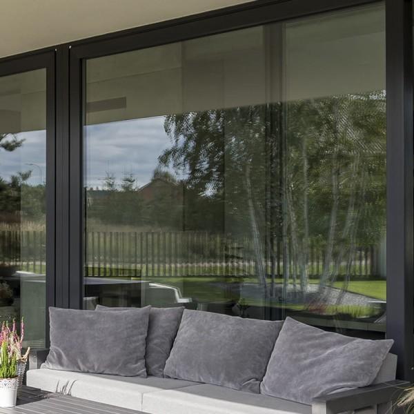 Außen Sonnenschutzfolie für Fenster Silber Mittel selbstklebend
