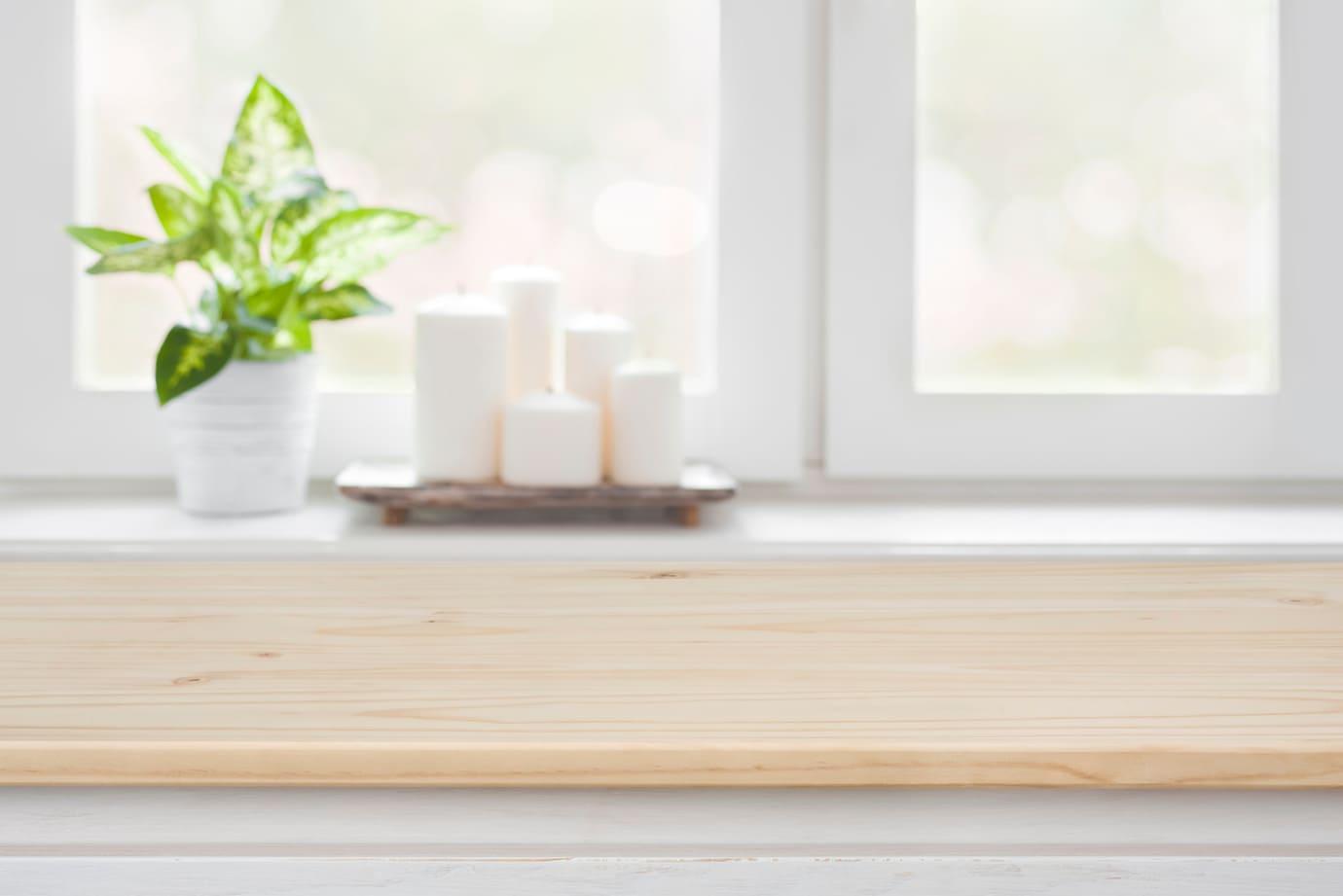 Fensterbank mit Holzoptik Folie verkleiden