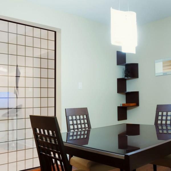 Fenster Dekorfolie Quadrate Weiß